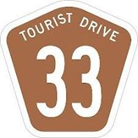 Route 33 Tourist Drive Road Sign